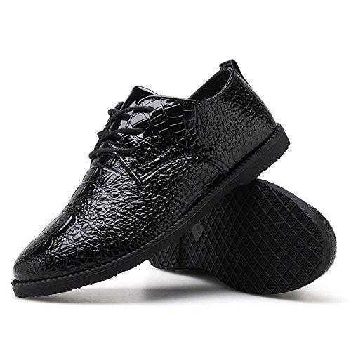 Lace 2018 Oxford ballerine piatto Shufang mocassini Pelle SnakeSkin nbsp;uomo uomo nuovo shoes mocassino Darkblue poliuretano PU tacco Nero da 8 color in Up scarpe Solid Ownpnq5TCx