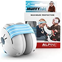 Alpine Muffy Baby Ear Muffs, Ear Protectors for Babies and Toddlers, Blue/White