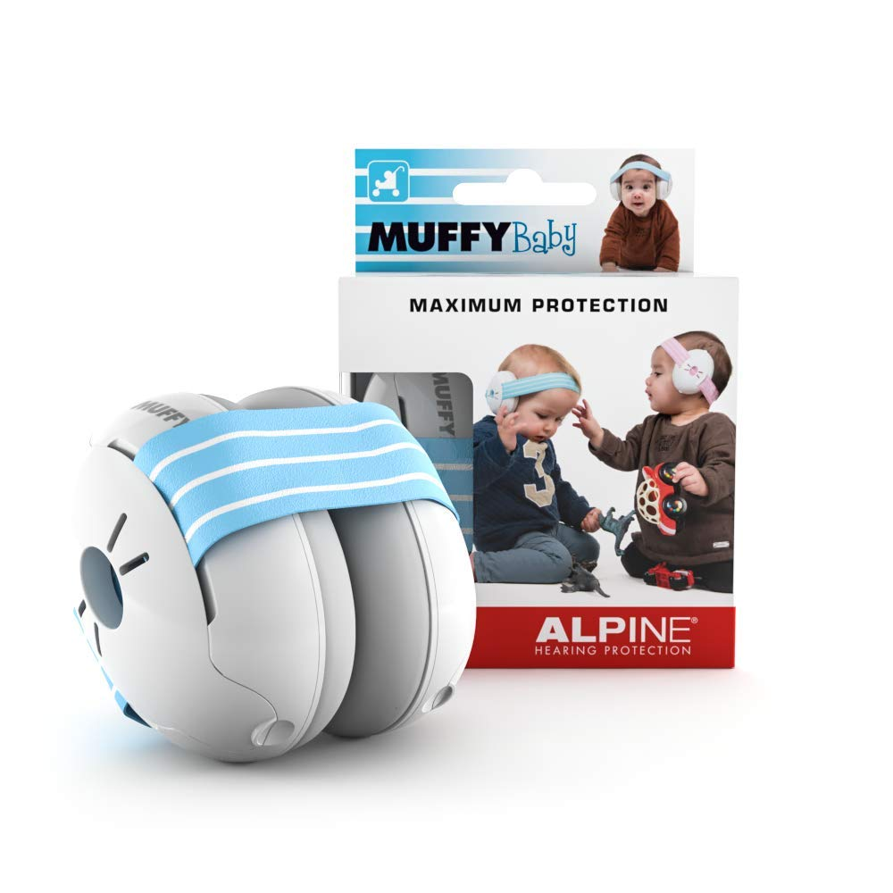 Alpine Hearing Protection Muffy Baby Ear Protection–Baby Ear Muffs–Noise Protection for Babies and Toddlers Upto 36 Months–Comfortable Infant Ear Protection-Prevent Hearing Damage & Improve Sleep,Blue
