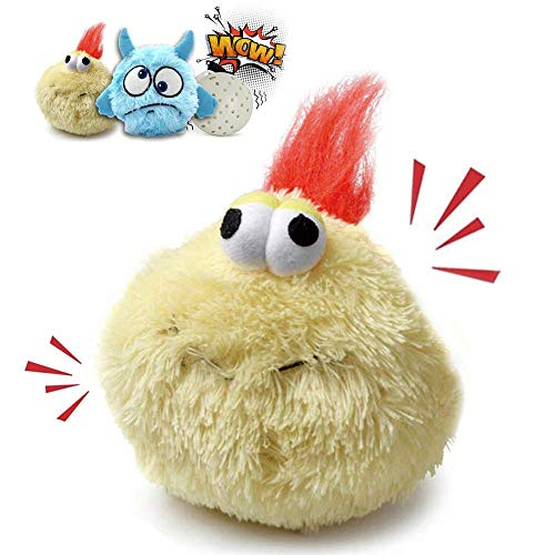 Heepark Interactive Dog Toy Plush Squeaky Giggle Ball Automatic Electronic Shake Crazy Bouncer Dog Toys for Exercise Entertainment Boredom Dogs Cats - Turkey Bird and Blue ELF Motorized Bouncing Toy