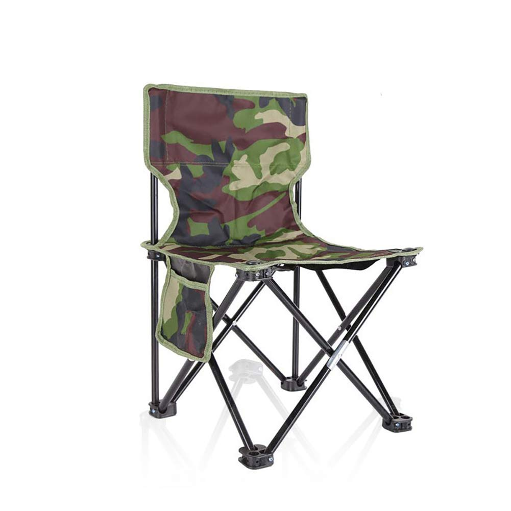 Camouflage 33x33x53cm(13x13x21inch) Mini Portable Folding Stool,Folding Camping Stool,Outdoor Folding Chair for BBQ,Fishing,Garden,Oxford Cloth with Carry Bag