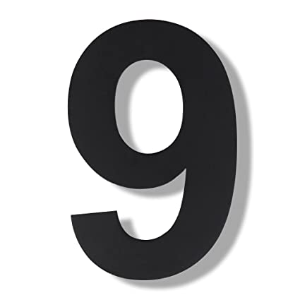 Mellewell Modern House Door Stand Off Numbers StandOff Numerals - 10 inch metal house numbers