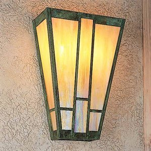 Arroyo Craftsman Asheville Sconce Bronze Metal Finish, Rain Mist Glass, 16