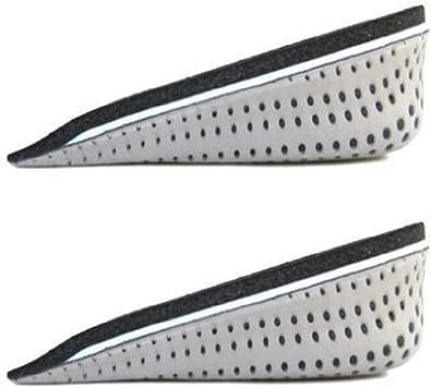 [ボーダー ドット] インソール かかと タイプ ヒール 衝撃吸収 低反発 素材 シークレット ハーフ 中敷き メッシュ 加工 通気性 蒸れ防止 男性 女性 兼用 厚底 身長 アップ 【製品保証30日】