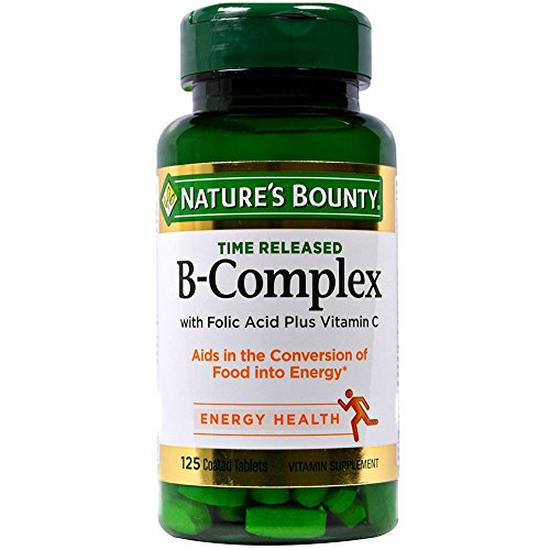 Nature's Bounty B-Complex With Folic Acid Plus Vitamin C Tablets 125 Tablets