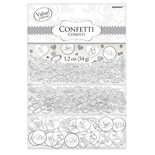 """White """"I Do"""" & Ring Value Confetti 