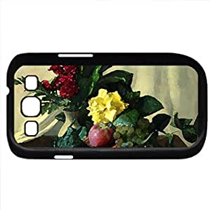 Flower Arrangement (Flowers Series) Watercolor style - Case Cover For Samsung Galaxy S3 i9300 (Black)