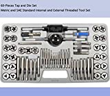 KECHUANG 60-Pieces Tap and Die Set Metric and SAE