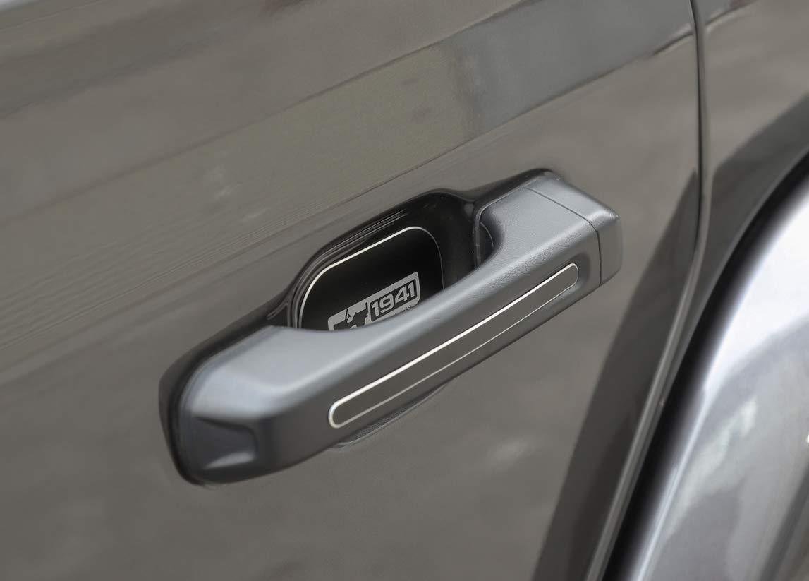 Black Aluminum Alloy Car Door Handle Decoration Cover 10pcs for Jeep Wrangler JL 2018 1941 Logo 4-Door