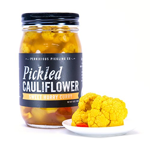 (Pickled Cauliflower: Sweet Hurry Curry (16 oz))