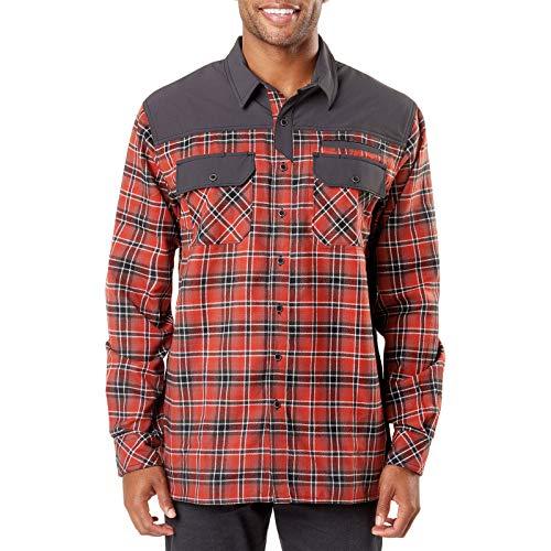 5.1100000000000003 Endeavor L/S Flannel Shirt Oxide Red PLD, Large