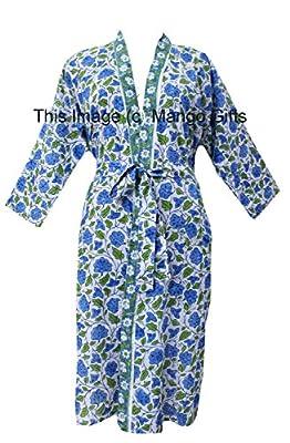Block Print Cotton Bathrobe Cover-up Dress