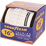"Goodyear Folding Bead Bicycle Tire, 16"" x 1.5/2.25"", White"
