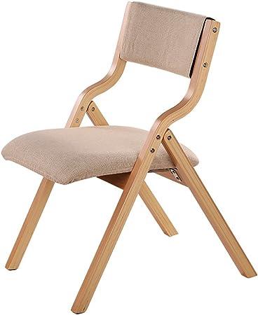 silla plegable madera respaldo