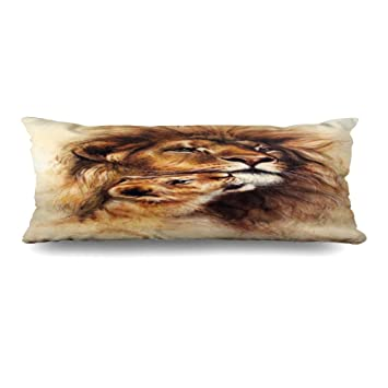 Amazon.com: Ahawoso Zippered Body Pillow Cover 20x54 Inches ...