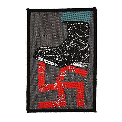 Stomping Out Fascism Sew On Woven Badge Applique Patch Germany World War II by Mia_you