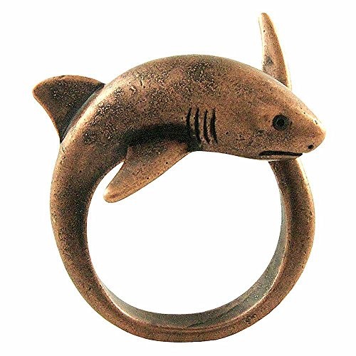 - Enhanced Big Shark Adjustable Animal Wrap Ring Rose Gold Tone