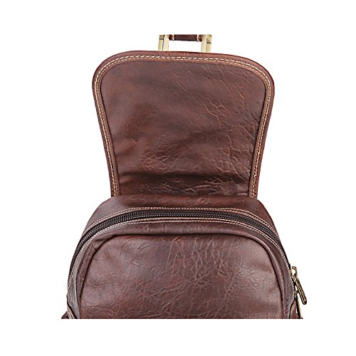 Lycailcy LYC-Lycailcy-A09-20 - Bolso mochila  para mujer Marrón Magnetic Snap Light Brown(9.4 x 4.3 x 11 inches) Small(9.4 x 4.3 x 11 inches) Magnetic Snap Purple(9.4 x 4.3 x 11 inches)