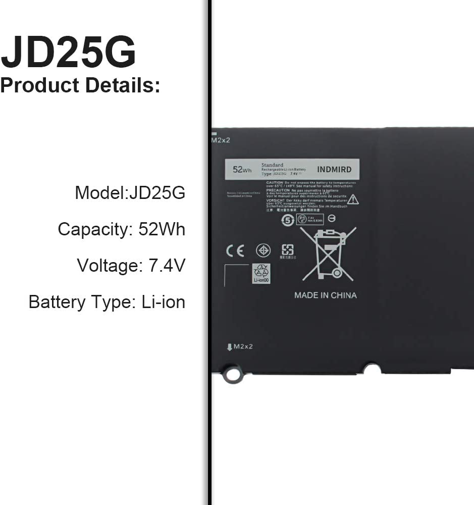 INDMIRD JD25G New Laptop Battery for Dell XPS 13-9350 13-9343 13D ...