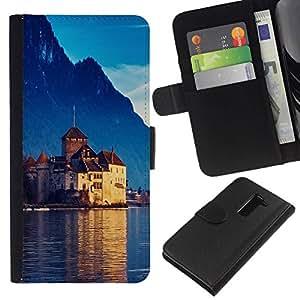 All Phone Most Case / Oferta Especial Cáscara Funda de cuero Monedero Cubierta de proteccion Caso / Wallet Case for LG G2 D800 // Castle In Switzerland