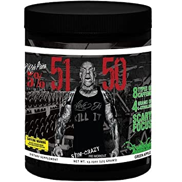 Rich Piana 5 Nutrition 5150 Pre Workout Green Apple 13.23OZ 375 Grams 30 Servings International Version