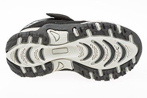 gibra - Zapatillas de Material Sintético para niño negro/blanco
