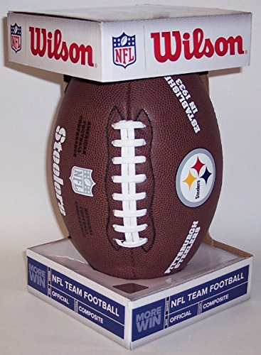 Pittsburgh Steelers Composite Leather Wilson Official Full Size NFL Football - F1748 by Creative Sports
