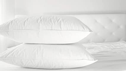 Amazon Com Cluster Fiber Pillow Set Of Two White Down Alternative