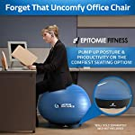 NATARIFITNESS..COM  51GmKSugiKL._SS150_ Exercise Ball Base for Stability - Stand for Balance Balls Fits Balls from 55cm to 75cm - Convert Stability Ball to…
