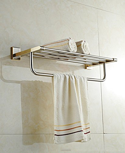 ZHAS Stainless Steel Gold Bathroom Towel Rack Luxury Bathroom Accessories Towel Rack (Color : Chrome) by ZHAS (Image #1)