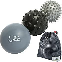 Massage Balls Deep Tissue: Lacrosse Ball Massage+ Spiky Ball+ Foam Ball Roller –Trigger Point Therapy, Myofascial Release, and Muscle Recovery. Foot Massager and Plantar Fasciitis. FREE eBook & Video