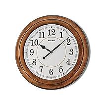 Seiko Wooden Wall Clock (Brown, 56 cm x 56 cm x 5.1 cm)