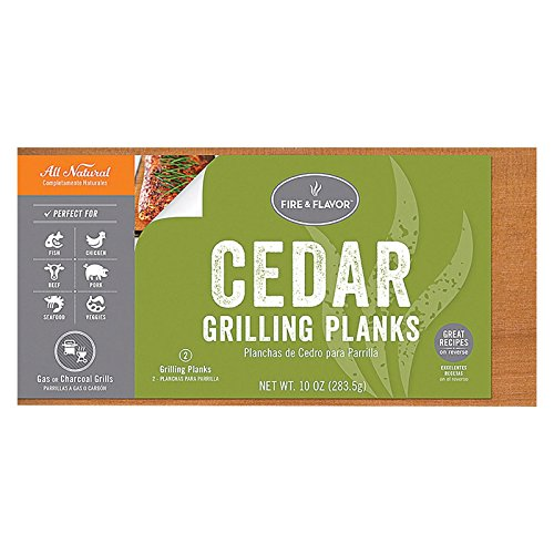 Fire & Flavor Grilling Plank,Cedar,11 2 Count (Pack Of 10)