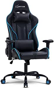 Artiss Gaming Office Chair Computer Chairs Leather Seat Racing Racer Recliner Meeting Chair Black Blue