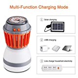 lotus.flower Mosquito Killer, UV Solar LED/LED Electric Fly Insect Bug Pest Mosquito Trap Zapper Killer Night Lamp (Solar charging)