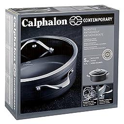 Calphalon Contemporary Hard-Anodized Aluminum Nonstick Cookware, Sauce Pot, 5-quart, Black