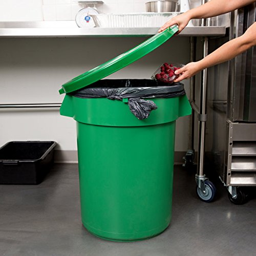 (TableTop King Huskee 32 Gallon Green Trash Can with Green Lid)