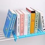 [1 Piece] Shopline Adjustable Storage Rack Shelf, Layered Organizer Divider Holder for Kitchen Cupboard, Refrigerator, Wardrobe, Bathroom, Bookcase Compartment Collecting / Random Color (M, 38-55cm)