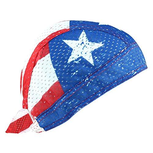 American Flag Stars Stripes USA Vented Sweatband Air Flow Durag Biker Head Wrap