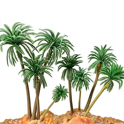 HUIANER Model Trees Palm Tree Miniature Landscape Trees Fake Trees for Projects, 18PCS from huianer