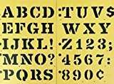 roman drawing - Grumbacher 1/2 -Inch Roman Drawing Stencils for Pens, Pencils, and Markers (Set of 6)
