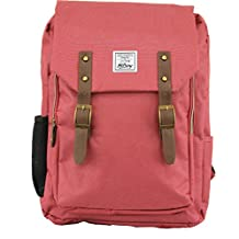 Hilroy Heritage King Street Backpack, Fits Up to 15.7 Inch Laptop, 6-1/2 x 11-1/2 x 17 Inches, Red (89583)