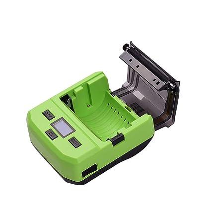 Leslaur Impresora inalámbrica de código de barras térmica BT ...