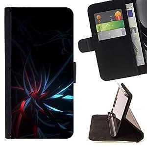 For Samsung Galaxy S6 Case , Negro oscuro del trullo luces rojas- la tarjeta de Crédito Slots PU Funda de cuero Monedero caso cubierta de piel