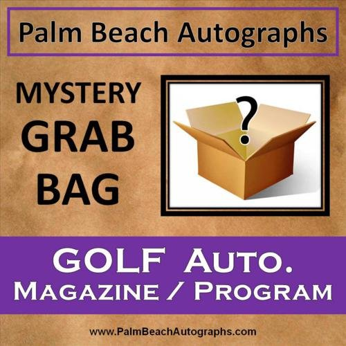 MYSTERY GRAB BAG - Autographed Golf Magazine / Program (Autographed Magazine Program)