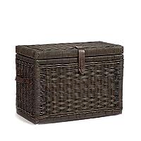 The Basket Lady Wicker Storage Trunk | Wicker Storage Chest