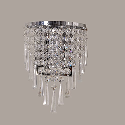 MASO HOME MC-29019 Modern Crystal Wall light Lights, Wall Sconces, crystal wall lamp decorations, crystal wall mount for bedrooms, living rooms, bathrooms (A style)