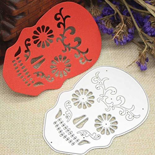 wintefei Christmas Halloween Card Making DIY Craft Metal Scrapbooking Embossing Stencil Cutting Dies Skull