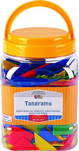 Learning Advantage 7713 Tangrams, Grade: Kindergarten to 8 (Pack of 30) (Plastic Tangram)