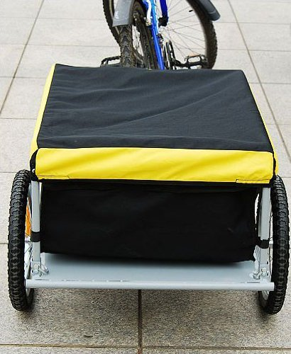 Aosom Elite Bike Cargo / Luggage Trailer - Yellow / Black by Aosom (Image #5)